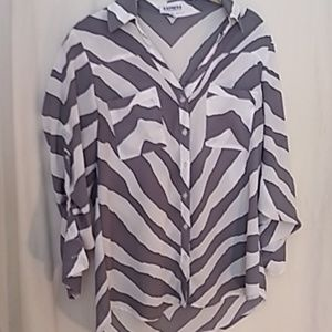 Express zebra blouse S